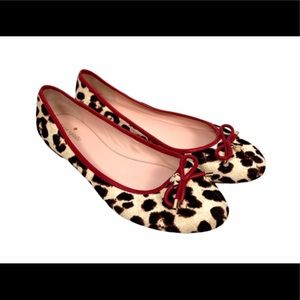 Kate Spade Willa Leopard Calf Hair Flats
